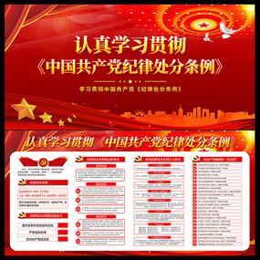认真学习贯彻中国共产党纪律处分条例展板