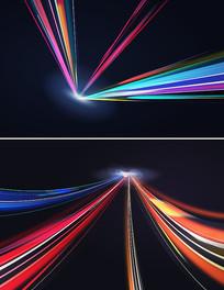 矢量炫酷光影放射元素设计