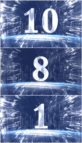 LED大气10秒倒计时视频模板