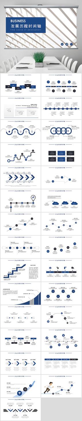 发展历程时间轴PPT模板