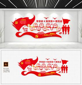 红色新时代党的光辉历程文化墙