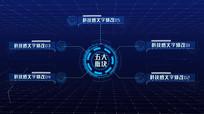 科技板块大数据展示AE模板