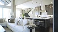 手持拍摄的客厅和厨房视频素材