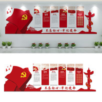 新时代党员活动室文化墙