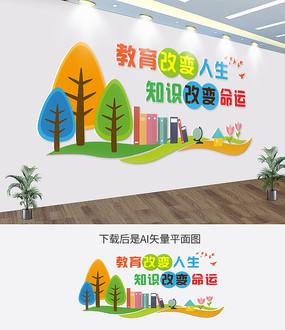 3D校园文化学校文化墙