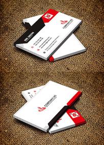 红色简约IT行业名片设计