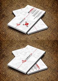 红色简约装修公司名片设计