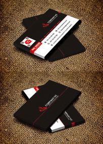 红色科技企业名片设计