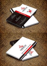红色欧式高档商务名片设计