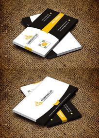 黄色大气装修公司名片设计