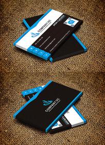 蓝色商务IT行业创意名片设计