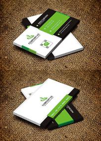 绿色清新教育培训名片设计