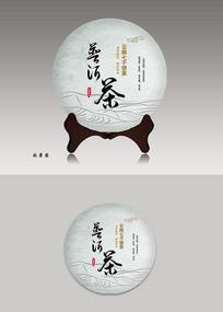 普洱茶茶饼包装设计七子饼茶 PSD