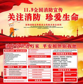 2019全国消防宣传展板 PSD