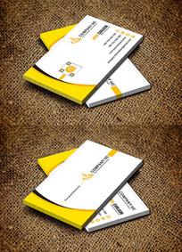 个性简约黄色广告公司名片设计