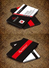 红色简约大气公司名片设计