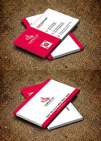 红色美容行业简约风商务名片设计