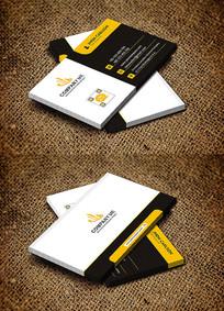 黄色创意商务时尚公司名片