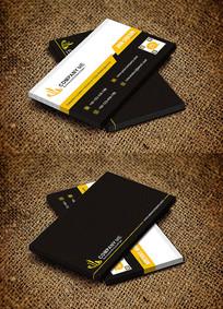 黄色个性时尚简约名片设计