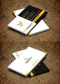 黄色商务金融服务行业名片设计