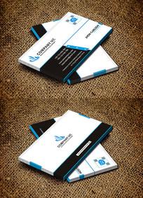 蓝色大气广告公司名片设计
