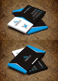 蓝色大气企业公司个人名片设计