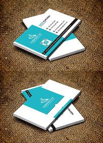 绿色清新教育环保名片设计