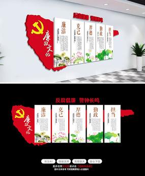 中式大气廉政建设廉政文化墙设计