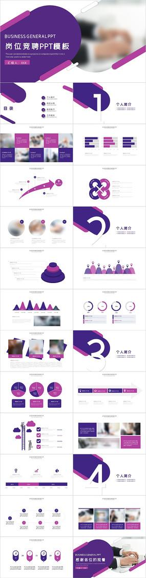 紫色岗位竞聘PPT模板