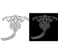 CAD吉祥结线稿中国结线稿