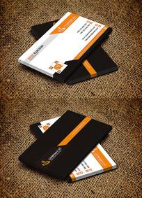 橙色创意科技公司大气名片