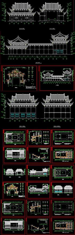 古建筑祠堂戏台设计CAD图库