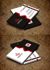 红色IT行业科技公司名片设计