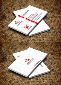 红色简洁大气广告公司名片设计
