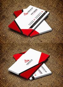 红色极简创新时尚科技公司名片