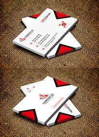 红色商务服装公司名片设计