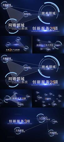 科技点线信息展示AE视频模板