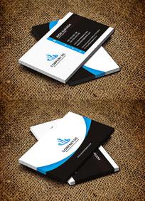 蓝色科研机构IT公司名片设计