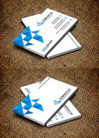 蓝色企业公司个人大气名片