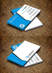 蓝色时尚创意科技公司名片设计