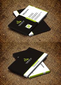 绿色教育培训机构环保公司名片设计