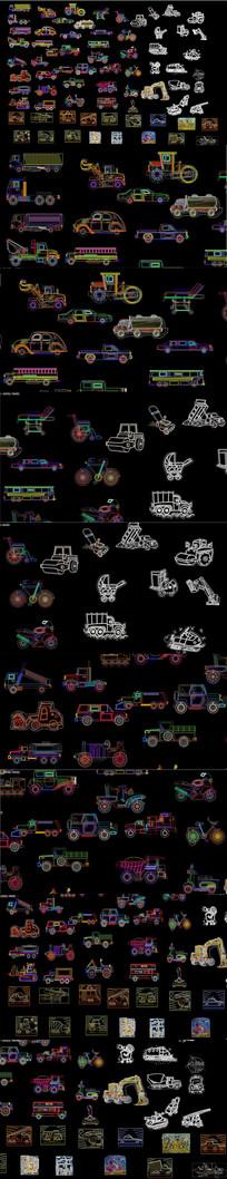 汽车及工程机械CAD图库 dwg