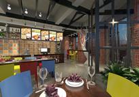现代工业风快餐厅