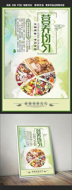 营养均匀食堂标语餐厅文化展板