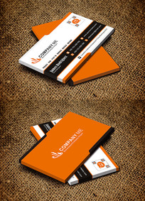 橙色横版餐饮行业饮食服务名片