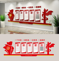 党员权利义务党建活动室党建文化墙