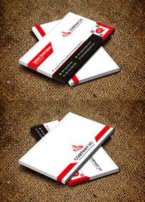 红色个性时尚美容创意商务名片