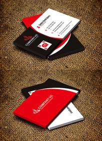红色简约个性商务时尚名片设计