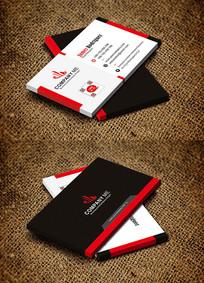 红色简约商务创意个性时尚名片设计