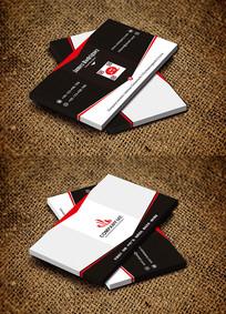 红色简约商务电子工程师名片设计
